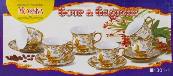 Mossiva Cangkir 6 Cup & 6 Saucer1301-1 2